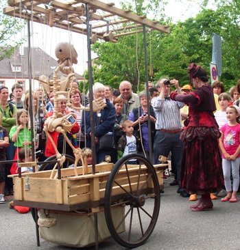 mobiele straattheater act